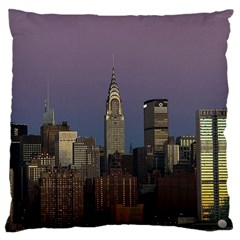 Skyline City Manhattan New York Large Flano Cushion Case (one Side)