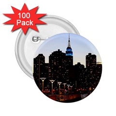 New York City Skyline Building 2 25  Buttons (100 Pack)