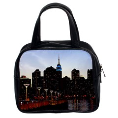 New York City Skyline Building Classic Handbags (2 Sides) by Simbadda
