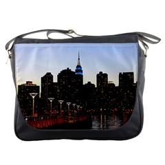 New York City Skyline Building Messenger Bags