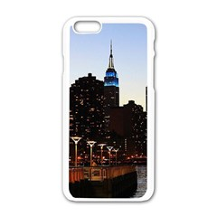 New York City Skyline Building Apple Iphone 6/6s White Enamel Case