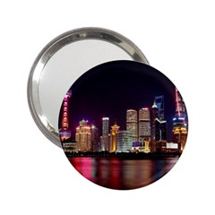 Building Skyline City Cityscape 2 25  Handbag Mirrors