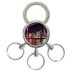Building Skyline City Cityscape 3 Ring Key Chains