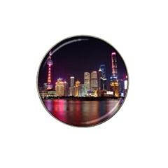 Building Skyline City Cityscape Hat Clip Ball Marker (4 Pack)