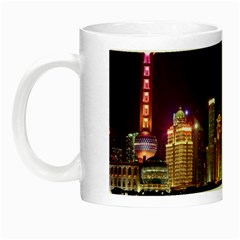 Building Skyline City Cityscape Night Luminous Mugs
