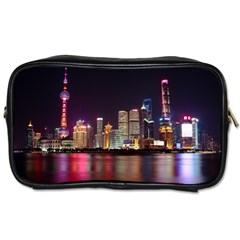 Building Skyline City Cityscape Toiletries Bags 2 Side