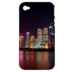 Building Skyline City Cityscape Apple Iphone 4/4s Hardshell Case (pc+silicone)