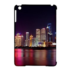 Building Skyline City Cityscape Apple Ipad Mini Hardshell Case (compatible With Smart Cover) by Simbadda