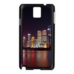 Building Skyline City Cityscape Samsung Galaxy Note 3 N9005 Case (black) by Simbadda