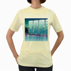 Skyscrapers City Skyscraper Zirkel Women s Yellow T Shirt