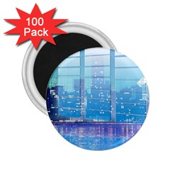 Skyscrapers City Skyscraper Zirkel 2 25  Magnets (100 Pack)
