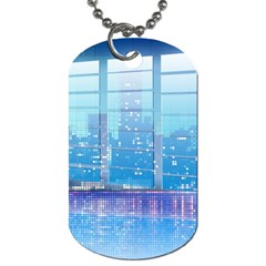 Skyscrapers City Skyscraper Zirkel Dog Tag (two Sides)