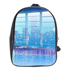 Skyscrapers City Skyscraper Zirkel School Bag (large)