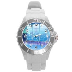 Skyscrapers City Skyscraper Zirkel Round Plastic Sport Watch (l)