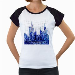 Skyscrapers City Skyscraper Zirkel Women s Cap Sleeve T