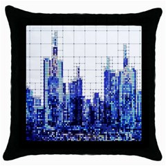 Skyscrapers City Skyscraper Zirkel Throw Pillow Case (black)
