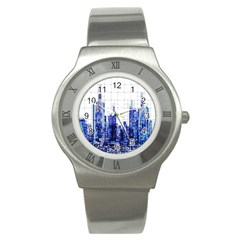 Skyscrapers City Skyscraper Zirkel Stainless Steel Watch