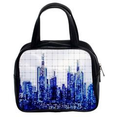 Skyscrapers City Skyscraper Zirkel Classic Handbags (2 Sides) by Simbadda