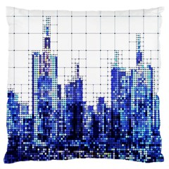 Skyscrapers City Skyscraper Zirkel Large Cushion Case (two Sides)