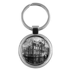Reflection Canal Water Street Key Chains (round)