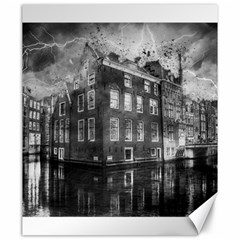 Reflection Canal Water Street Canvas 20  X 24