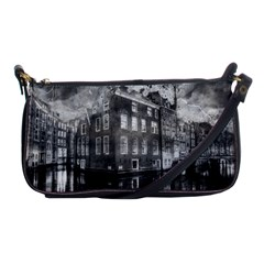 Reflection Canal Water Street Shoulder Clutch Bags