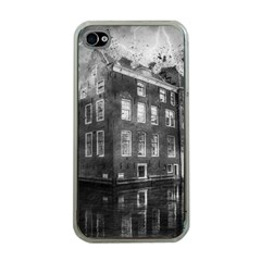 Reflection Canal Water Street Apple Iphone 4 Case (clear) by Simbadda