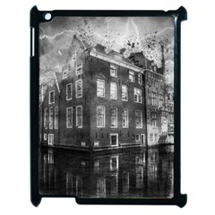 Reflection Canal Water Street Apple Ipad 2 Case (black)