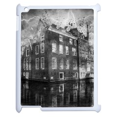Reflection Canal Water Street Apple Ipad 2 Case (white)