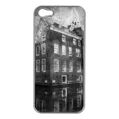 Reflection Canal Water Street Apple Iphone 5 Case (silver) by Simbadda