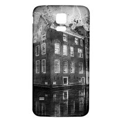 Reflection Canal Water Street Samsung Galaxy S5 Back Case (white)