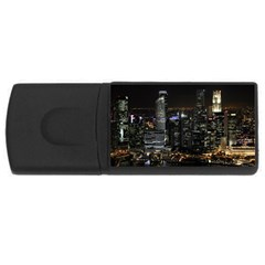 City At Night Lights Skyline Rectangular Usb Flash Drive