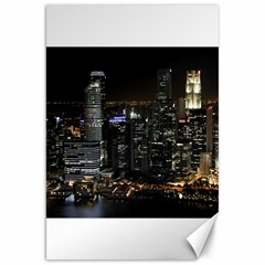 City At Night Lights Skyline Canvas 20  X 30