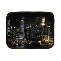 City At Night Lights Skyline Netbook Case (small)