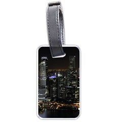 City At Night Lights Skyline Luggage Tags (two Sides)