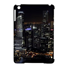 City At Night Lights Skyline Apple Ipad Mini Hardshell Case (compatible With Smart Cover) by Simbadda