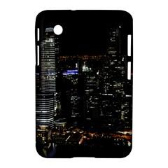 City At Night Lights Skyline Samsung Galaxy Tab 2 (7 ) P3100 Hardshell Case  by Simbadda