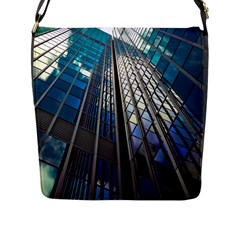 Architecture Skyscraper Flap Messenger Bag (l)