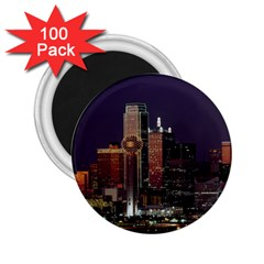 Dallas Texas Skyline Dusk Usa 2 25  Magnets (100 Pack)
