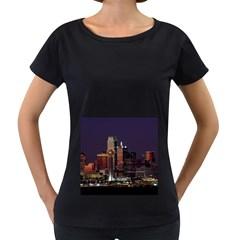 Dallas Texas Skyline Dusk Usa Women s Loose Fit T Shirt (black)