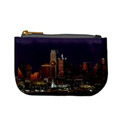 Dallas Texas Skyline Dusk Usa Mini Coin Purses