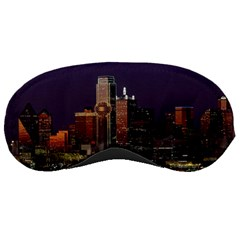 Dallas Texas Skyline Dusk Usa Sleeping Masks