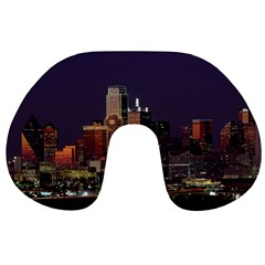 Dallas Texas Skyline Dusk Usa Travel Neck Pillows