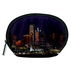 Dallas Texas Skyline Dusk Usa Accessory Pouches (medium)