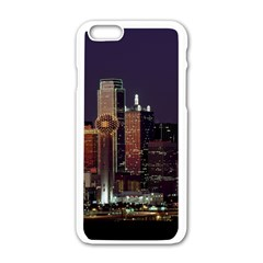 Dallas Texas Skyline Dusk Usa Apple Iphone 6/6s White Enamel Case