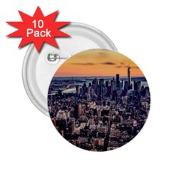 New York Skyline Architecture Nyc 2 25  Buttons (10 Pack)