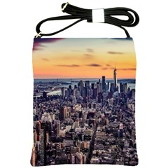 New York Skyline Architecture Nyc Shoulder Sling Bags by Simbadda