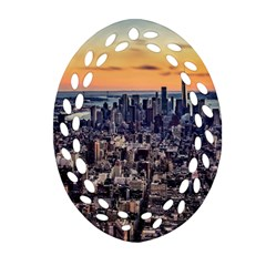 New York Skyline Architecture Nyc Ornament (oval Filigree)