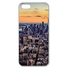 New York Skyline Architecture Nyc Apple Seamless Iphone 5 Case (clear) by Simbadda
