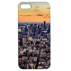 New York Skyline Architecture Nyc Apple Iphone 5 Hardshell Case With Stand